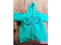 Tommy Hilfiger boys green zip up jacket Age 10