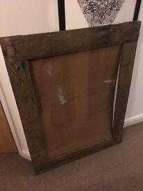 Reclaimed wooden frame