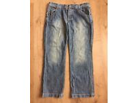 Mens Blue Fat Face Jeans Waist Size 38 Leg 32 Casual Day wear