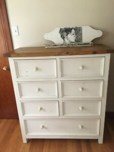 Gorgeous tall boy dresser and night stand