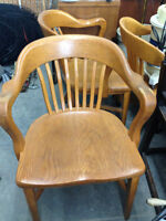 Solid Oak Office Chairs