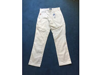 "30"" Famous Stars and Strap cream chinos"