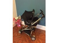 Quinny zapp pram frame with maxi cosy car seat and extras