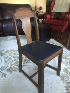 1930's table and 6 chairs
