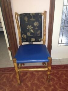 8 brass plated hickory chairs