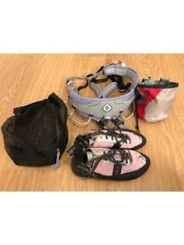 Climbing Harness and Chalk Bag