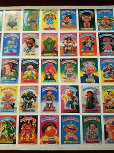 RARE 1985 Garbage Pail Kids Series 2 Sticker Sheet - Uncut