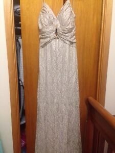 An evening or prom dress