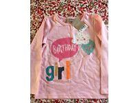 Girls 'birthday girl' tshirt
