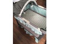 Graco Travel Crib( Travel Cot) + Chabging mat from John Lewis