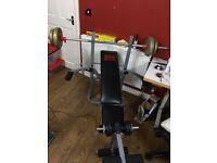 Pro power bench press inc dumbells