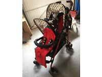 Cosatto Shuffle double Tandem buggy