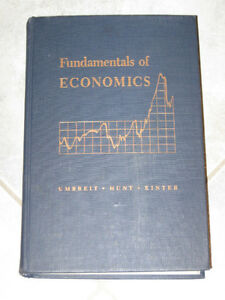 FUNDAMENTALS of ECONOMICS..1948 EDITION..UMBREIT..HUNT..KINTER