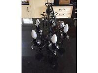 Black chandelier light