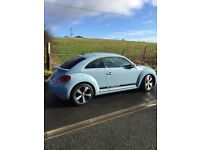 VW Beetle Denim Blue - massive specification including full Atlantic Blue/Black Vienna Leather