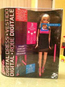 Digital Dress Barbie Doll – Designs Move to Music – Brand New