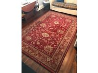 Large 100% wool rug 2m x 3m - good condition