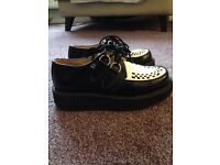 T.U.K leather shoes size 4