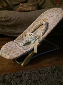 changing mat with activity bar £8 Winnie the Pooh Vibrating bouncer chair £10 collection gorleston