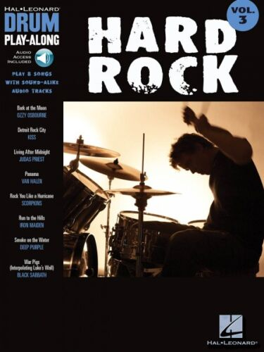 Hard Rock Drum Play-Along Book and Audio NEW 000699743
