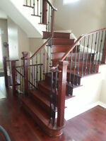 Hardwood Stairs Railing Wrought Iron Spindles,Stairs Recapping