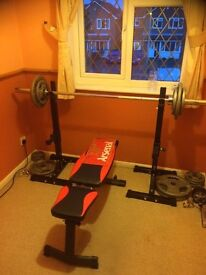 Gym Height Adjustable 175kg Rated Weight Stands ( Squat & Bench Press Rack )