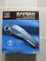 As new, electric hair clipper set $28