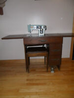 Vintage Imperial Sewing Machine and Cabinet