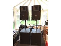 RCF ACTIVE PA SYSTEM. As new condition. ART745A/4PRO8003/4PRO3031A
