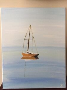 Art: acrylic canvas painting sailboat West Island Greater Montréal image 1