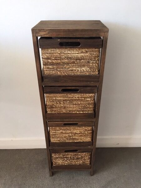 Wicker basket drawers
