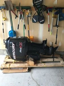 Mercury Optimax 250 hp Pro Xs, LOW 205 hours w controls/cables