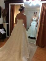 Wedding dress size 10 Sweetheart neck line