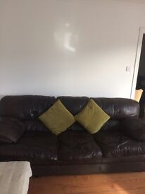 3 and 2 leather sofa