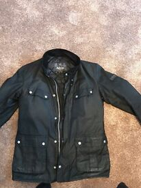 Men's Barbour Wax International Duke Jacket, Medium, Black