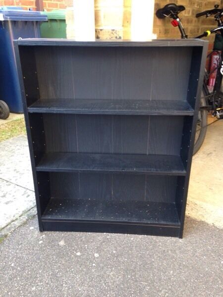Ikea black wood effect DVD / Book shelves - two available