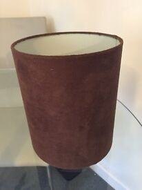 Brown suede lamp shade