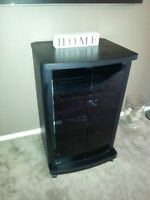Stereo Cabinet with Wheels