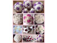 Foam wedding bouquet flowers