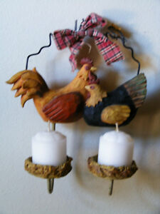 Rooster Candle Holder