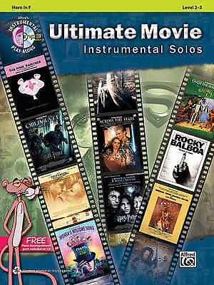 ULTIMATE MOVIE INSTRUMENTAL SOLOS-FRENCH HORN MUSIC BOOK/CD BRAND NEW ON -