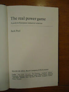 The Real Power Game - A Guide to European Industrial Relations - West Island Greater Montréal image 2