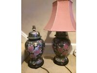 2 stunning Chinese Ginger Jar style lamps. Bargain at £20 for both.