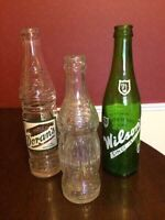Old collectible vintage bottles