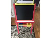 Kids chalk & drywipe board