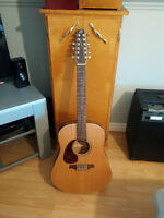 12 string left accoustic/electric guitar