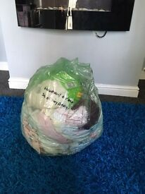 A full bag of Girls clothes/ newborn/1st size/tiny baby