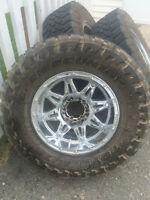 Fuel Hostage wheels, Toyo Open Country MT 295 70r/17