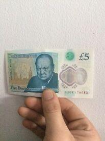 AA04 New 5 pound note