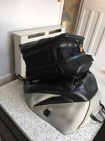 Bagster expandable tank bag and tank protector / hugger